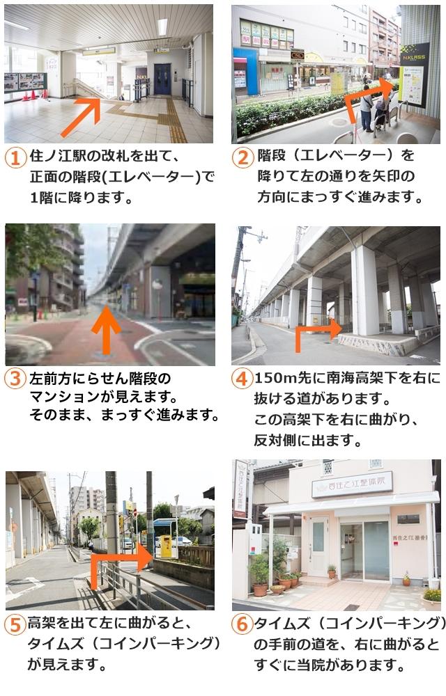 住ノ江駅から当院までの道順